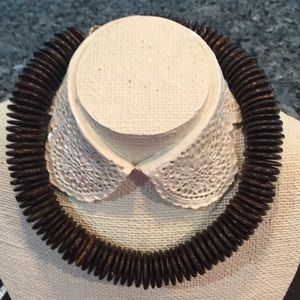 14 inch brown disc necklace choker